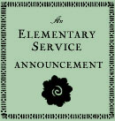 An Elementary Group Service Announcement